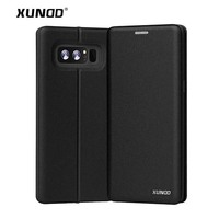 For Samsung Galaxy Note 8 Phone Bags XUNDD Luxury PU Leather Cover Flip Case For Galaxy
