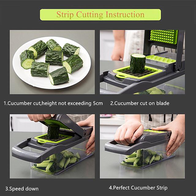 Vegetable Cutter Kitchen Accessories Mandoline Slicer Fruit Cutter Potato Peeler Carrot Cheese Grater Vegetable Slicer