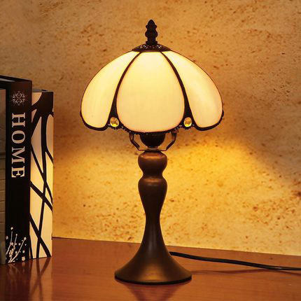 Online Shop Hand Drawing Vintage Desk Lamp Bedside Glass Lampshade