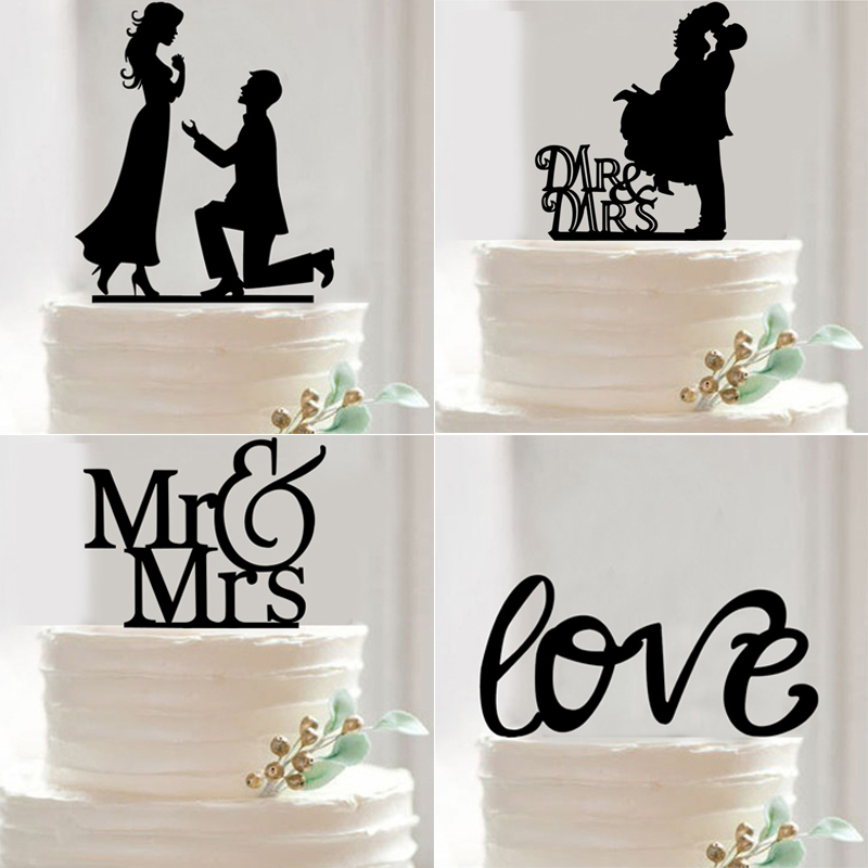 Mr mrs wedding cake topper acrylic black romantic bride groom cake mr mrs wedding cake topper acrylic black romantic bride groom cake decorating supplies online shop store australia junglespirit Choice Image