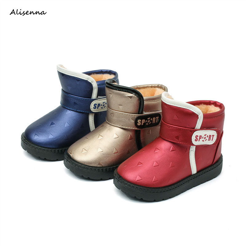 80264b10250 Alisenna Winter Kids Boots Boys Girls Non-slip Snowshoes Children Thicken  Keep Warm Boots Babys Waterproof Boots