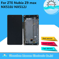 M Sen LCD Screen Display Touch Digitizer With Frame For ZTE Nubia Z9 Max NX510J NX512J