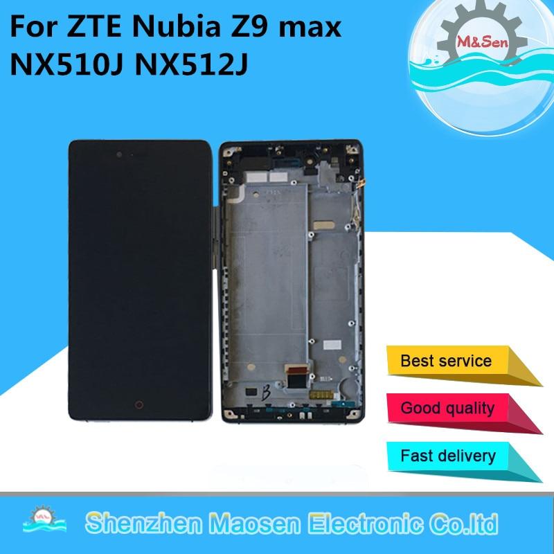 M & Sen Für ZTE Nubia Z9 max NX510J NX512J LCD screen display + touch digitizer mit rahmen Für ZTE nubia Z9 max mit werkzeuge