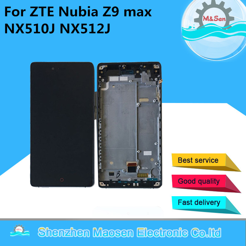 M & Sen Para ZTE Nubia Z9 max NX510J NX512J LCD screen display + digitador touch com quadro Para ZTE nubia Z9 max com ferramentas