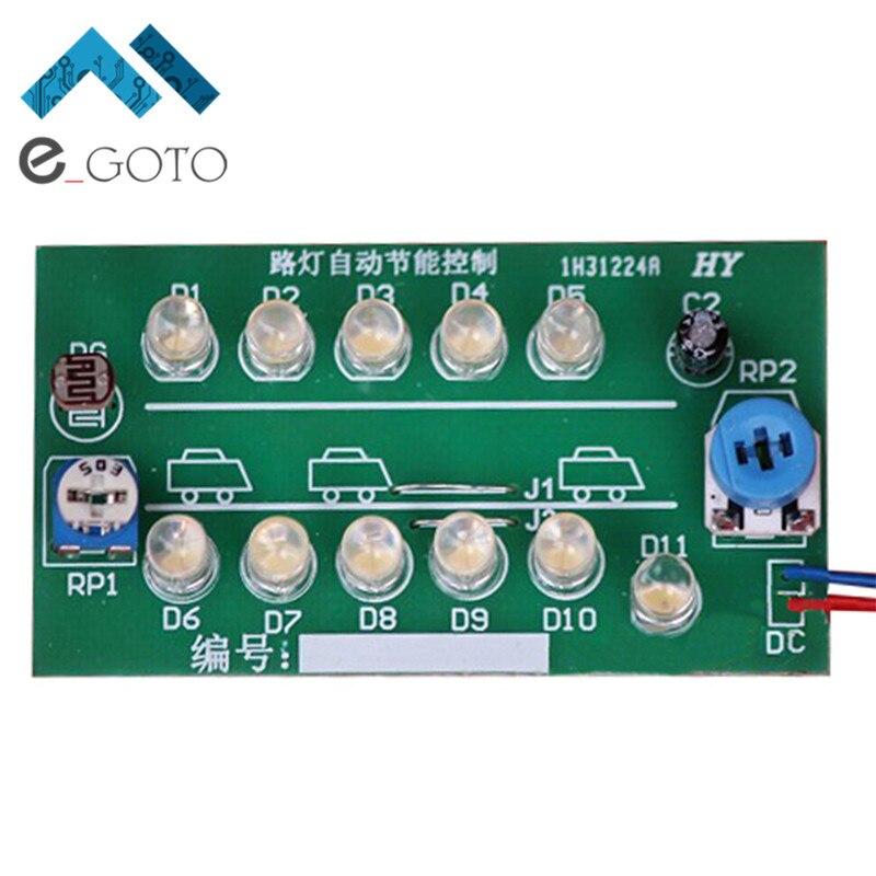 DIY Kits NE555 CD4011 Street Lamp Auto Energy Saving Control System Suite Intelligent Street Lamp Electronic Making Kit