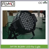 non waterproof dj equipment 54pcs RGBW LED 3W LED Par Light stage big show dj lighting