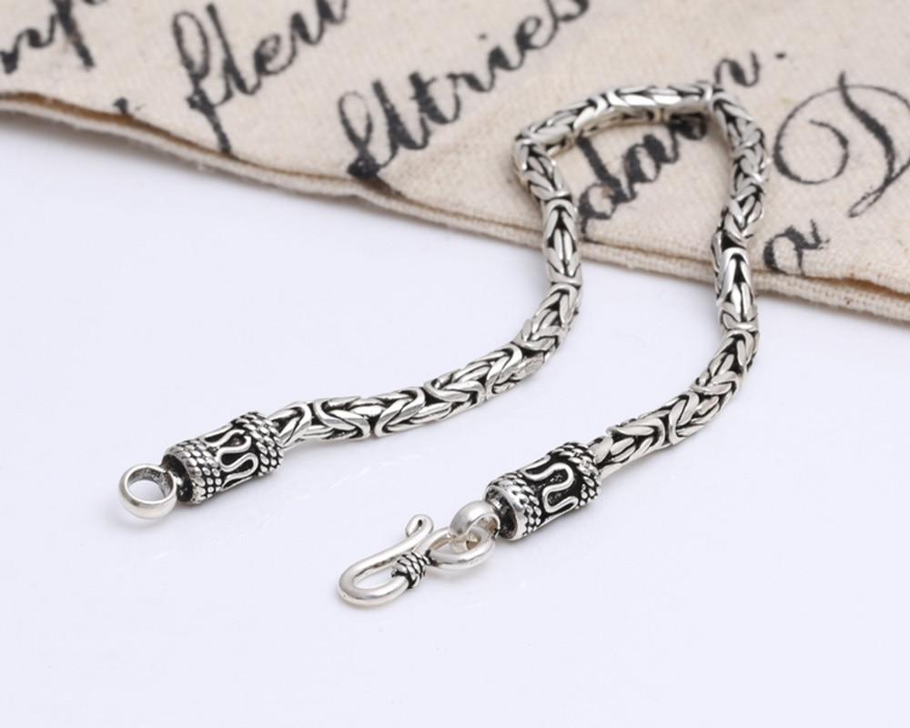 Подлинная 100% реальная Pure 925 стерлингового серебра толстые Для мужчин браслет безопасной узор браслет Для мужчин Ювелирные украшения S010