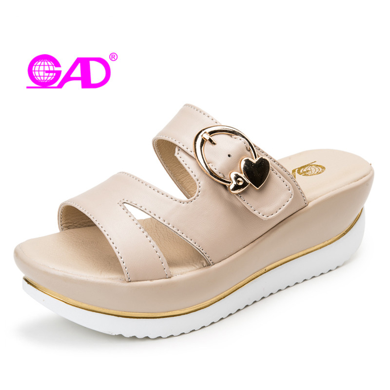 GAD Women Wedges Sandals Platform Sandals Fashion Summer Shoes Woman Soft Leather Casual Open Toe Gladiator Shoes Women Shoes vtota summer shoes woman platform sandals women soft leather casual peep toe gladiator wedges women shoes zapatos mujer a89