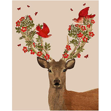 WEEN Sika Deer-Oil Painting by numbers,Modular canvas pictures for living room,DIY paint numbers kit kids&adults 40x50cm