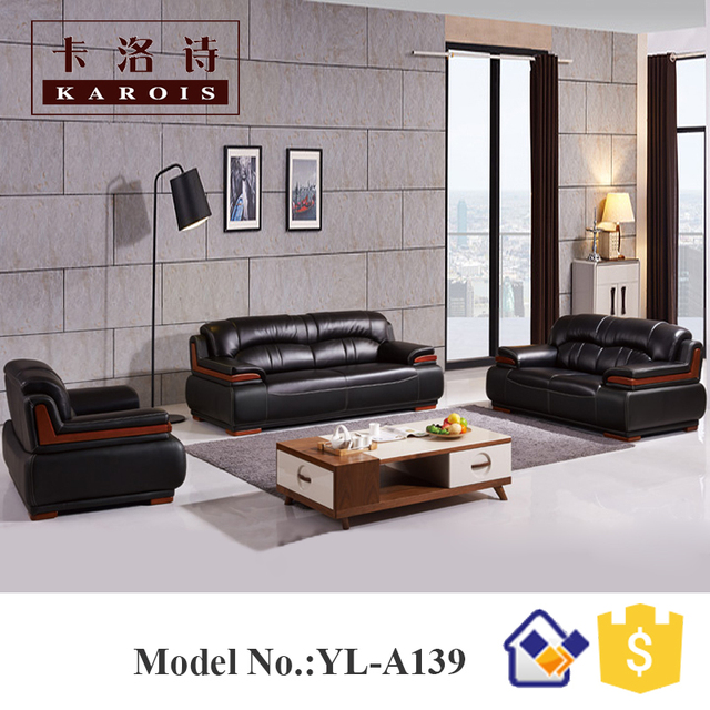 Modell A139 Traditionelle Leder Abschnitt Chef Buro Sofa Set