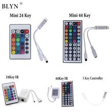 RGB LED Controller 4 Pin IR 24 Key 44 Key IR Remote 3 Key Pressed Dimmer On/off Switch For 5050 3528 RGB LED Strip Light