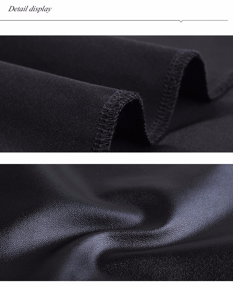 High Quality Black Pants Women Autumn Fashion Sexy Zipper Pu Leggings Pencil pants Pantalon Femme Leather Pants Plus Size 2016 g