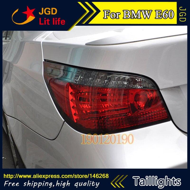 tail lights for BMW E60 520i 523li 525i 528i 2004-2010 LED taillight Tail Lamp rear trunk lamp cover drl+signal+brake+reverse jgd brand new styling for bmw e60 520i 523li 525i 528i tail lights 2004 2010 led tail light rear lamp led drl singal car lights