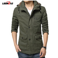 Fall and winter clothes men plus thick velvet coat big yards long section of young men suit jacket Slim cold outside