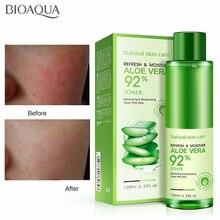 BIOAQUA Natural Aloe Vera Gel Smoothing Face Toner Oil Control Pores Brighten Skin Care Repairing Moisturizing 120ml