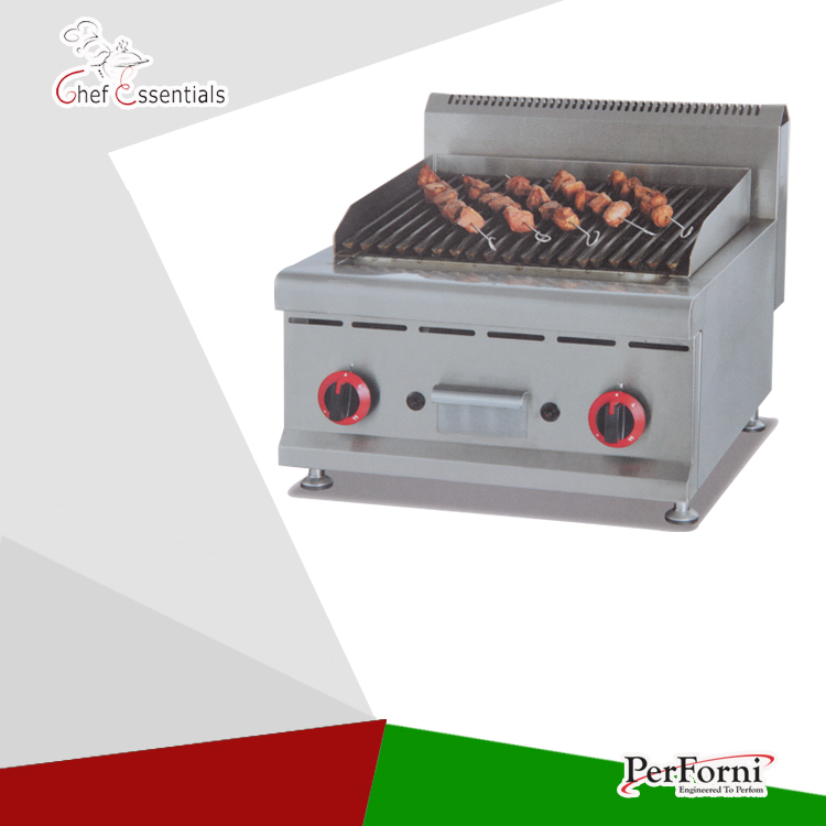 PKJG-GB589 Counter Top Gas Lava Rock Grill for Commercial Kitchen