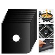 4 шт./лот газовые протекторы для плиты многоразовые антипригарные горелки защита от пожарных травм лайнер Крышка для кухни специальные аксессуары