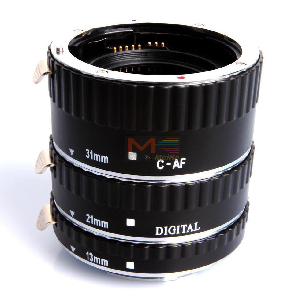 Meike mise au point automatique du Tube d'extension Macro en métal AF pour appareil photo Canon EOS - 5