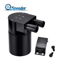 ESPEEDER High Performance Black Aluminum Reservior Oil Catch Can Tank/ Oil Catch Tank For BMW N54 335 E60 E90 E92 E93