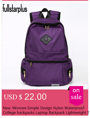 e099f9598fc Fullstarplus Women Backpack for Teenagers Girls Vintage Stylish school  backpack bag Solid BackPack purple backpack schoolbags -in Backpacks from  ...