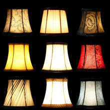 Fabric Cloth Floral Lampshade European High Grade Crystal Candle Chandelier Lamp Shade Wall Bedroom(China)