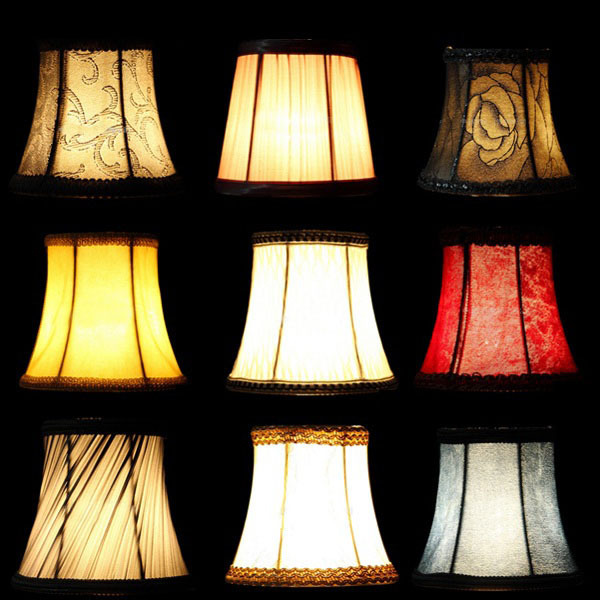 Fabric Cloth Fl Lampshade European High Grade Crystal Candle Chandelier Lamp Shade Wall Bedroom
