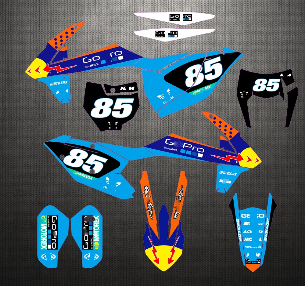 Custom Graphics full kit STORM STYLE stickers to fit KTM 65