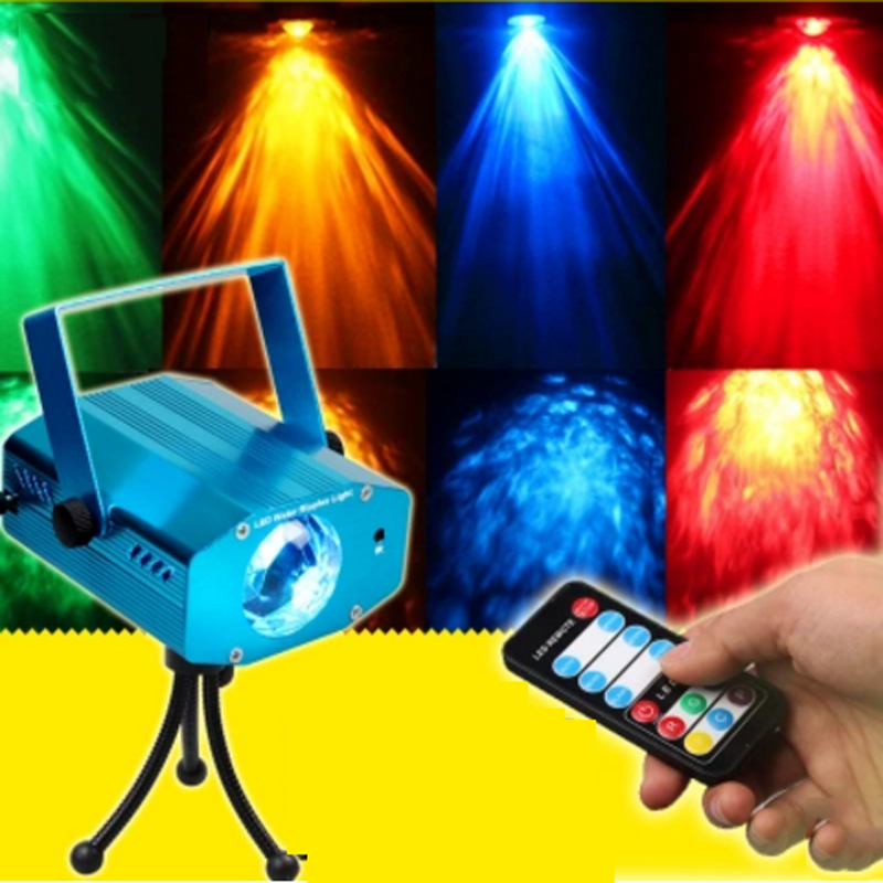 Professional Remote control RGB LED Stage Light Dynamic Water wave Flowing DJ Effect Lights RGB stage bar lights
