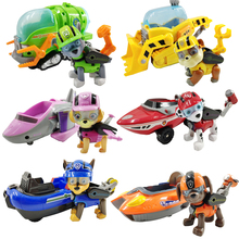 New Paw Patrol Dog Ocean Car Rescue Set Toy Patrulla Canina Action Character Model Gift for Children