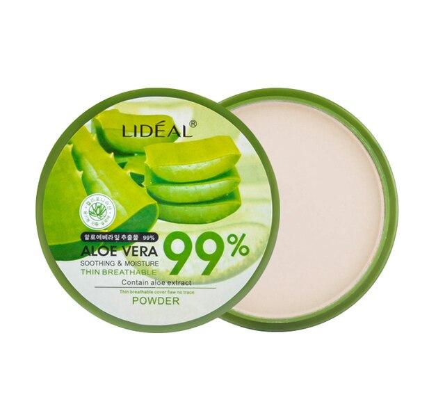 1pcs Natural Aloe Vera Moisturizing Smooth Pressed Powder Concealer/ Foundation