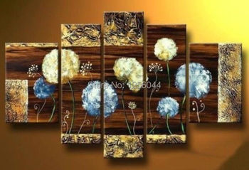 100% Hand made Abstract  High Q. Abstract Wall Decor Abstract Oil Painting on canvas 5pcs/set mixorde with Framed