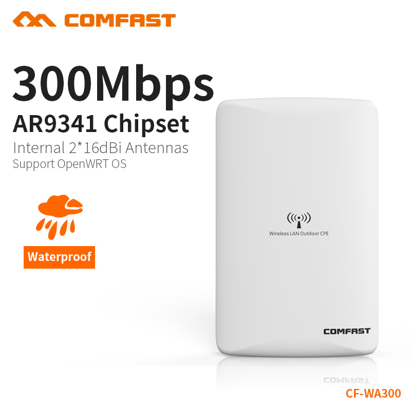 2.4GHz outdoor CPE bridge 300Mbps long range Signal Booster extender 1-5km Wireless AP dual 16dbi outdoor wifi repeater CF-WA300