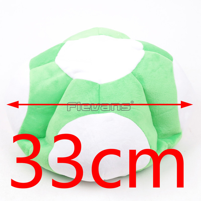 Super Mario Bros Red & Green Toad Mushroom Party Cosplay Hat Cap Plush Toy Dolls