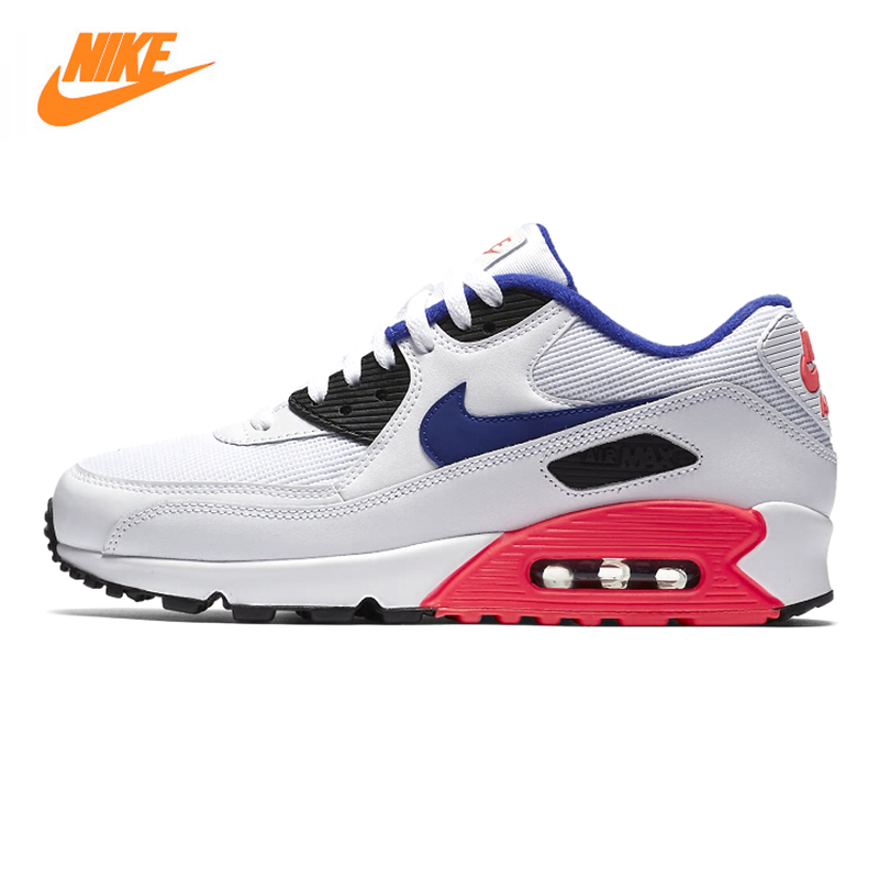 NIKE AIR MAX90 Men's and Women's Running Shoes, Outdoor Sneakers Shoes,White & Pink, Wear Resistant Non-slip 537384 136 цена