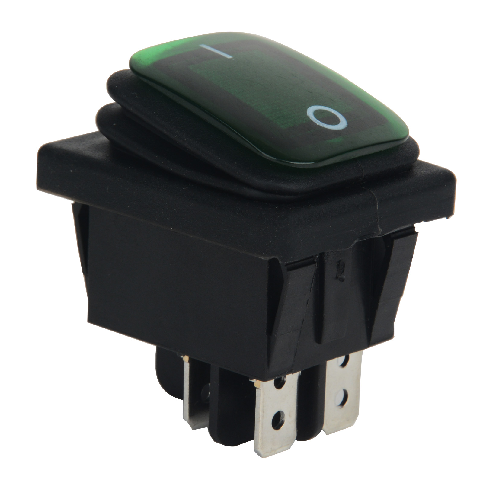 Mayitr Durable 1pc Green LED 4 Pin Rocker Toggle Switch 220V Car Boat ON/OFF SPST 3 Position Plastic Metal Switches Waterproof