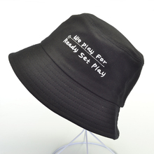 Summer We Play for Ready Set Letter Embroidery Bucket Hats Outdoor Fisherman Unisex panama caps Fashion Fishing Cap