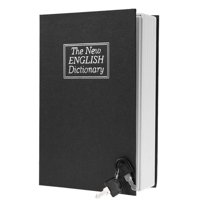 Forma criativa Dicionário de Inglês Livro Coin Piggy Bank Money Saving Box Seguro com Chave de Caixa de Poupança de Moedas Caixas de Enfeites