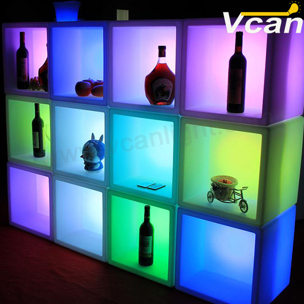 Glowing Storage Container Led Ice Bucket Light Up Cube