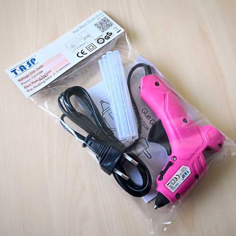 Image 5 - 220V 12(70)W DIY Mini Hot Glue Gun Silicone Melt Repair Tools with 10pcs 7mm Sticks-in Glue Guns from Tools on