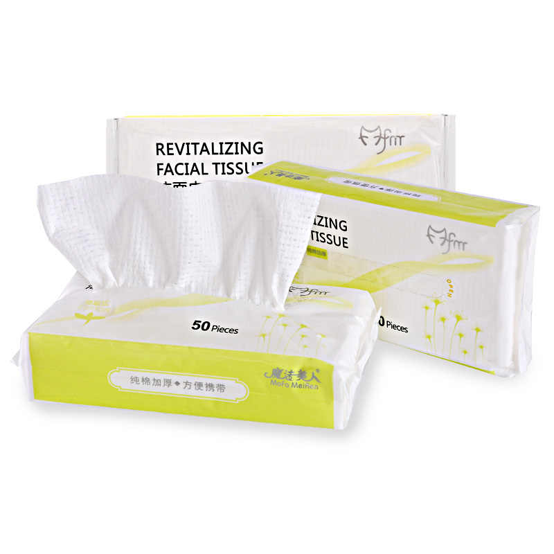 ... 50pcs Cleansing Cotton Disposable Towel Soft Face Tissue Cleansing Towel Makeup Remover Cotton Pad Wipes Free ...