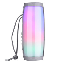 Portable Bluetooth Speaker Colorful LED Light Stereo Bass TF Card Aux FM Music Speaker With Mic Hands Free For Phone With Sling стоимость