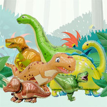 1Pcs Giant Dinosaur Foil Balloon Animal Balloons Birthday Party Decorations Kids 1 Year Birthday Girl Love Party Decora globos(China)