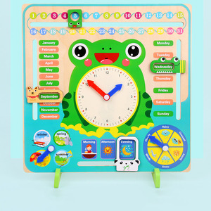Image 3 - Wooden Montessori Toys Baby Weather Season Calendar Clock Time Cognition Preschool Education Teaching Aids Toys For Children