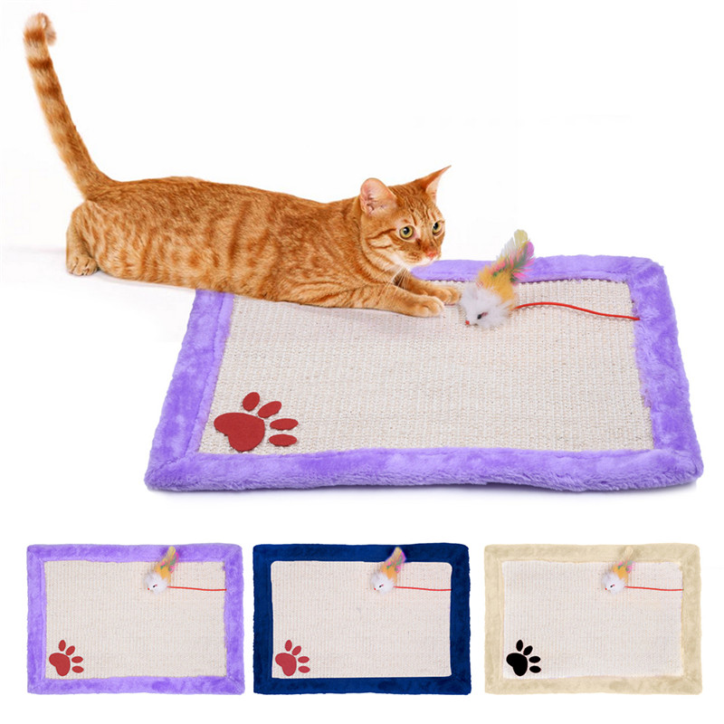New Cat Scratching Mat Cute Pets Cat Dog Scratch Mat With Toys 2016 Hot Sell 3 Colors Pet Supplies