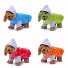 Winter Waterproof Pet Dog Coat Clothes PU Thickened Small Dogs Puppy Jacket Outwear Warm Hoodies for Chihuahua Yorkshire Terrier
