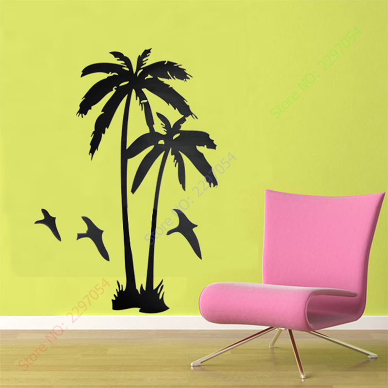 Aliexpress.com : Buy Home Decor Cool coconut palm Tree Mural Wall ...