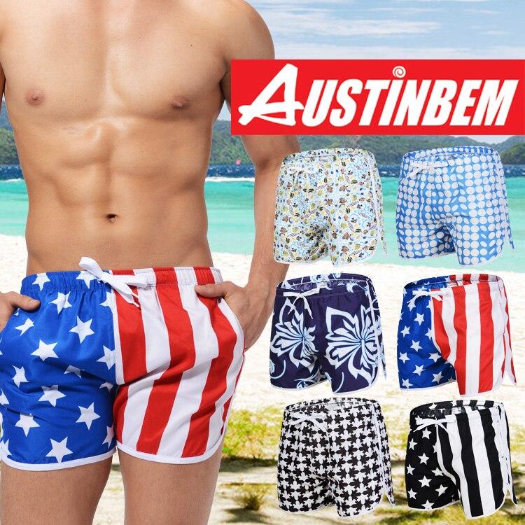 2018 brand AUSTINBEM new style men surf sexy swim pants Quick-drying Beach shorts Men Expert beach shorts men sports shorts