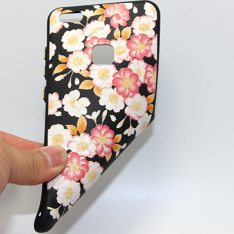 3D Relief flower silicone huawei P10 lite (36)
