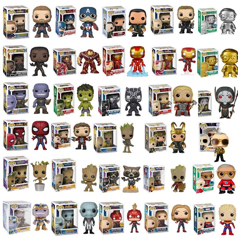 funko-pop-font-b-marvel-b-font-avengers-endgame-thanos-thor-spider-man-hulk-stan-lee-iron-pvc-action-figure-toys-for-children-christmas-gift
