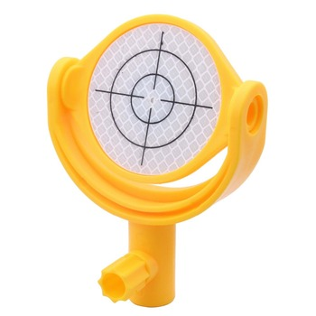 Tilting Reflector with Printed Crosshair Dia.60mm sheet ,  5/8X11 thread, mini prism for total station mini prism with 4 poles replace leica gmp111